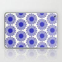 Vintage Flower Blue Laptop & iPad Skin
