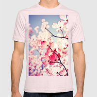 Dialogue With the Sky - Blue tones Mens Fitted Tee Light Pink SMALL