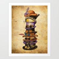 Hat Stack Art Print
