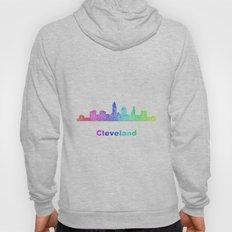 Rainbow Cleveland skyline Hoody