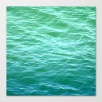 Teal Sea Canvas Print