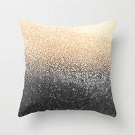 GOLD BLACK Throw Pillow