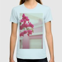 Bougainvillea Womens Fitted Tee Light Blue SMALL