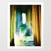 Under The Pier Art Print