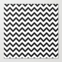 Funky chevron - black Canvas Print