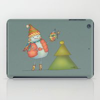 Friends keep warm - greyish iPad Case