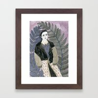 In Ferns Framed Art Print