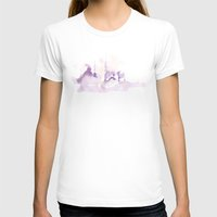 Watercolor landscape illustration_Istanbul Womens Fitted Tee White SMALL