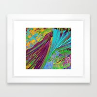 COLOR CHAOS Wild Vibrant… Framed Art Print