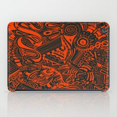 Inky - Orange & Green iPad Case
