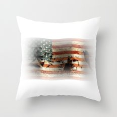 The Rise of a Nation Throw Pillow