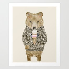 Art Print - sundae bear - bri.buckley