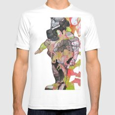 Dino-man SMALL White Mens Fitted Tee