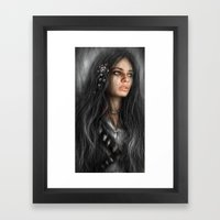 Dark Roses Framed Art Print