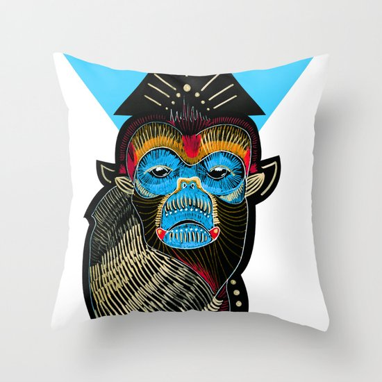 Color me Monkey Throw Pillow