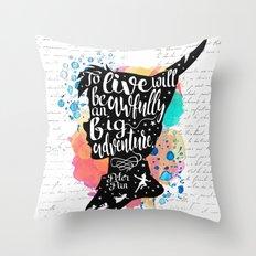 Peter Pan - To Live Throw Pillow