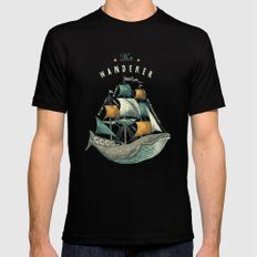 Whale | Petrol Grey SMALL Mens Fitted Tee Black