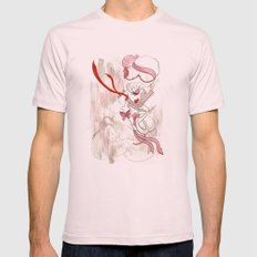 Rose de Charme Mens Fitted Tee Light Pink SMALL