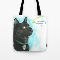 Black Cat-2 Tote Bag
