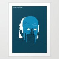 Manhunter Psycho Blue Art Print
