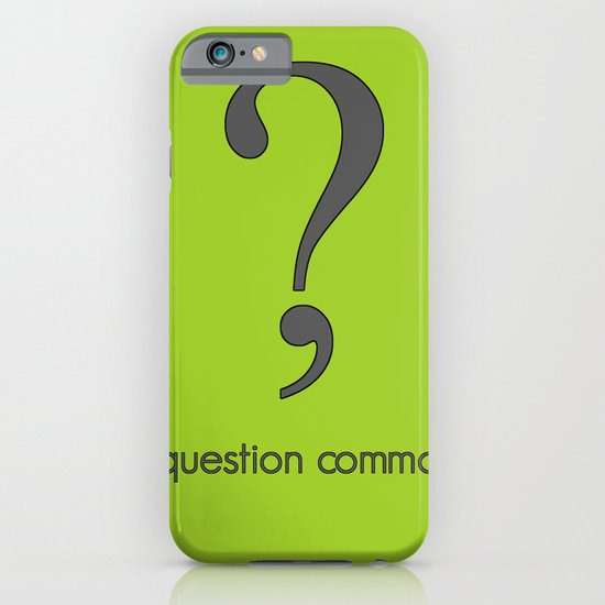Question Comma iPhone & iPod Case