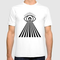 Laser Eye Mens Fitted Tee SMALL White