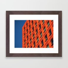 Orange and Blue Framed Art Print
