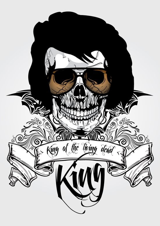 Elvis Presley   The King of the Living Dead Art Print