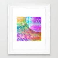 Moon and Sun having a shine out Framed Art Print