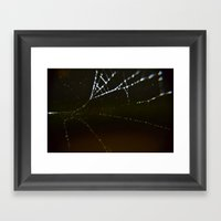 Watery Web Framed Art Print