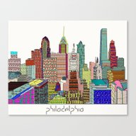 Philadelphia City Sklyin… Canvas Print