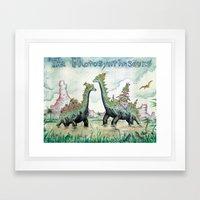 Photosynthesaurs Framed Art Print