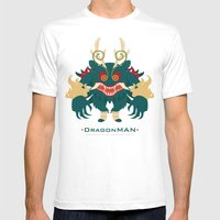 -DRAGONMAN- Mens Fitted Tee White SMALL
