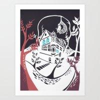 Round Tree House Art Print