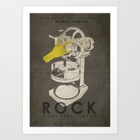ROCK - Fan Art Film Poster Art Print