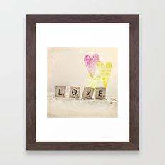 Translucent Love Framed Art Print