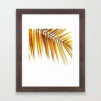 golden palm leaf II Framed Art Print