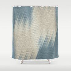 Beige diagonal lines  Shower Curtain