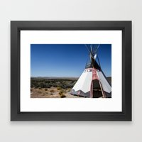 Tee Pee View Framed Art Print