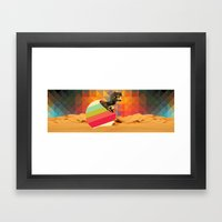 Wish I could hug you but I have these little arms Framed Art Print