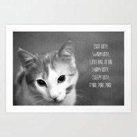 Soft Kitty Art Print