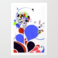 Pattern Notes Art Print