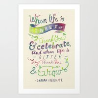 Say Thank You Art Print