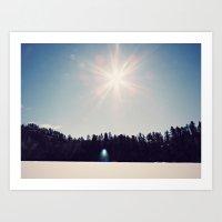 Ice+snow+sunshine Art Print