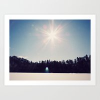 ice+snow+sunshine Art Print