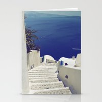 Santorini Stairs II Stationery Cards