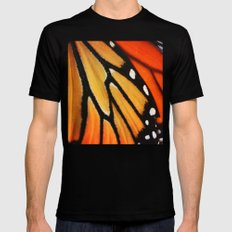 Butterfly Wing SMALL Mens Fitted Tee Black