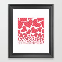 Bursting Hearts Framed Art Print