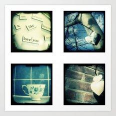 Four mini images Art Print