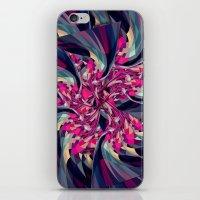 Purple Spiral iPhone & iPod Skin